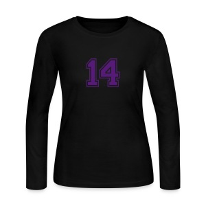 14 BLK LS Tee - Women's Long Sleeve Jersey T-Shirt