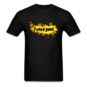 Yellow FunnyJunk Splatter - Men's T-Shirt