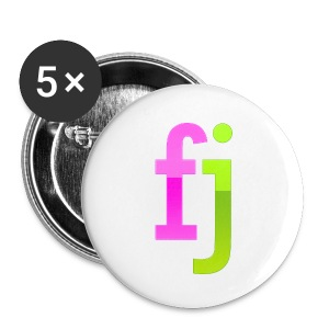 FJ Buttons Purple and Green - Small Buttons