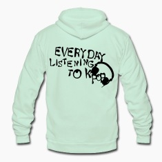 Everyday listening to KPOP Unisex Fleece Zip Hoodie by American Apparel