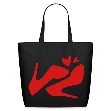Sexy high heel shoes Eco-Friendly Cotton Tote