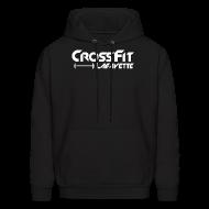 Hoodies ~ Men's Hoodie ~ CrossFit Lafayette - Black Hooded Sweat Shirt