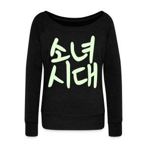 [SNSD] Sonyeo Shidae (Glow in the Dark) - Women's Wideneck Sweatshirt