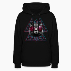3D Space Cat Hoodie (Womens)