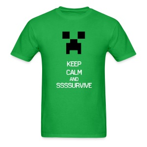 KEEP CALM AND SURVIVE - Mine craft - Men's T-Shirt