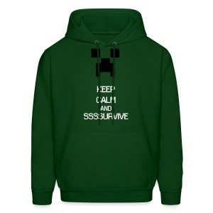 KEEP CALM AND SURVIVE - Mine craft - Men's Hoodie