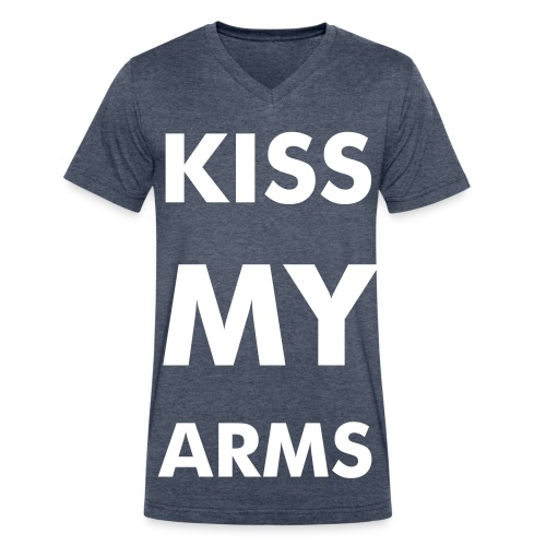 kiss my arms - Men's V-Neck T-Shirt by Canvas
