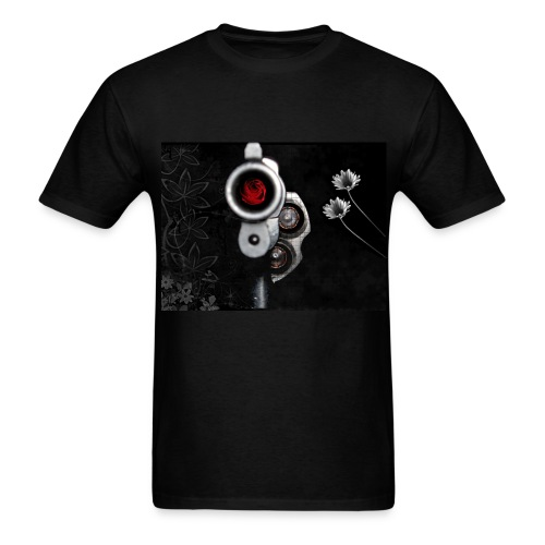 Rose my Gun by Vidró - Men's T-Shirt