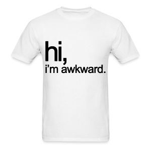 Hi, I'm Awkward (Black) - Men's T-Shirt