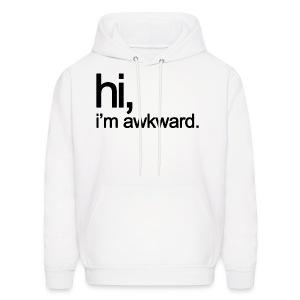Hi, I'm Awkward (Black) - Men's Hoodie