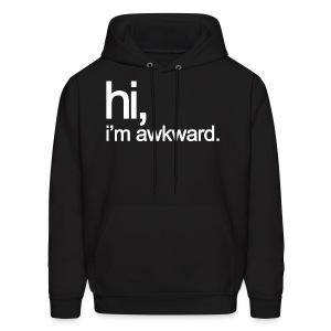 Hi, I'm Awkward (White) - Men's Hoodie