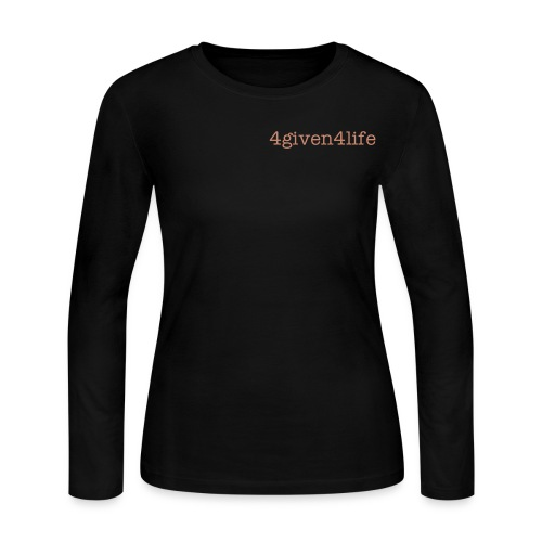 Glitter 4given Long Sleeve Tee - Women's Long Sleeve Jersey T-Shirt