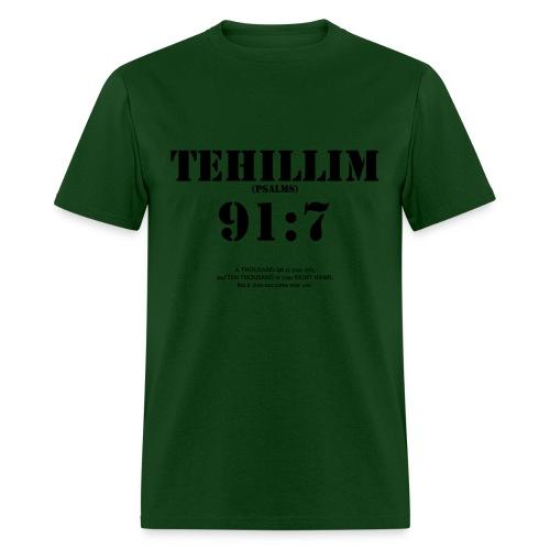 PSALMS/TEHILLIM 91:7 - Men's T-Shirt