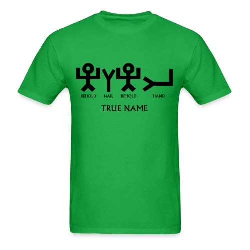 TRUE NAME EARLY SEMITIC - WITH DESCRIPTION - Men's T-Shirt