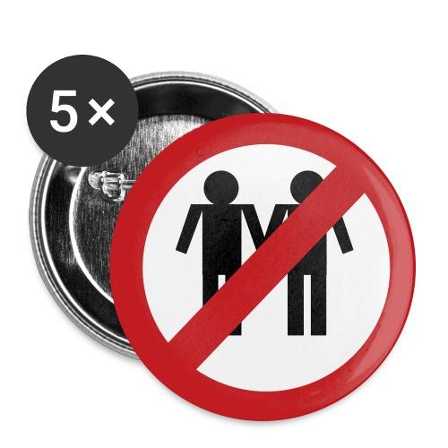 NO man+man - Large Buttons