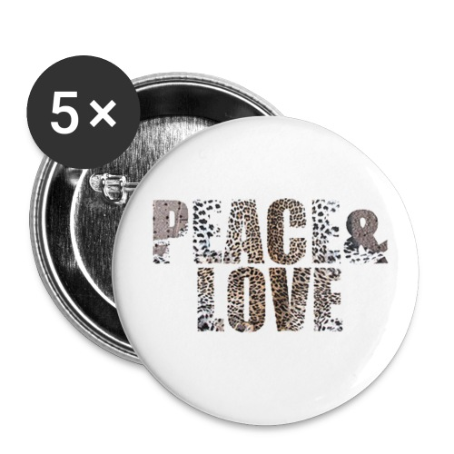 Peace & Love - Small Buttons