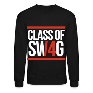 CLASS OF SWAG (14) Red with bands - Crewneck Sweatshirt