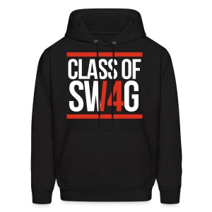 CLASS OF SWAG (14) Red with bands - Men's Hoodie