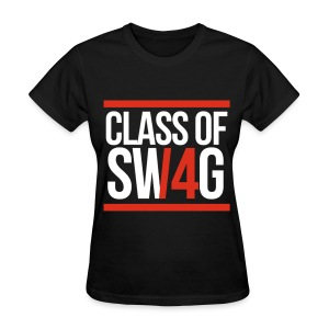 CLASS OF SWAG (14) Red with bands - Women's T-Shirt