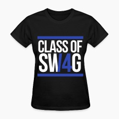 CLASS OF SWAG/14 (BLUE WITH BANDS)  Women's T-Shirts