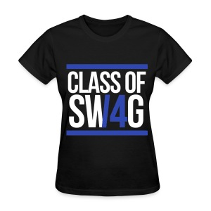CLASS OF SWAG (14) Blue with bands - Women's T-Shirt