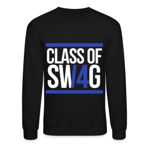 CLASS OF SWAG (14) Blue with bands - Crewneck Sweatshirt