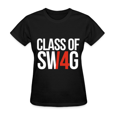 CLASS OF SWAG/14 (RED WITH NO BAND)  Women's T-Shirts