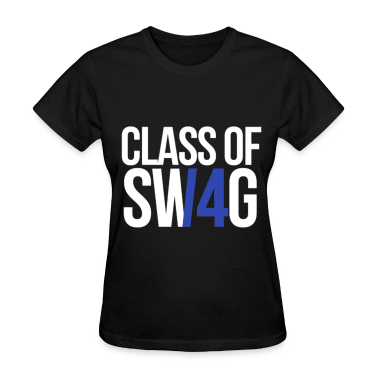 CLASS OF SWAG/14 (BLUE WITH NO BAND)  Women's T-Shirts