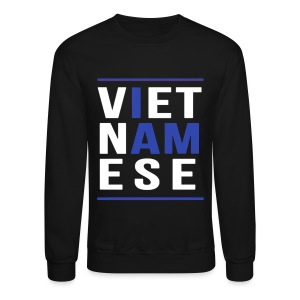 I AM VIETNAMESE Blue with bands - Crewneck Sweatshirt
