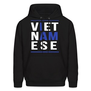 I AM VIETNAMESE Blue with bands - Men's Hoodie