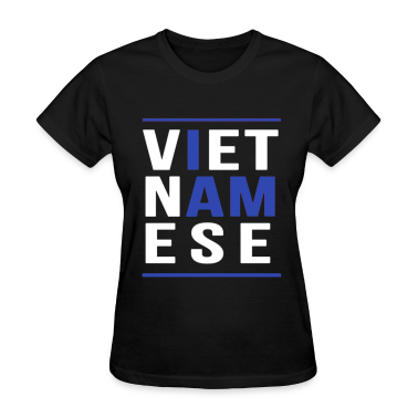 I AM VIETNAMESE (blue with bands) Women's T-Shirts