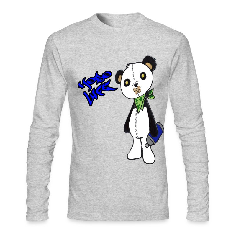 Hobo Life Panda - Men's Long Sleeve T-Shirt by Next Level