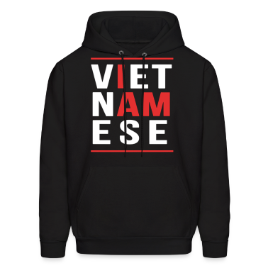 I AM VIETNAMESE (red with bands) Hoodies
