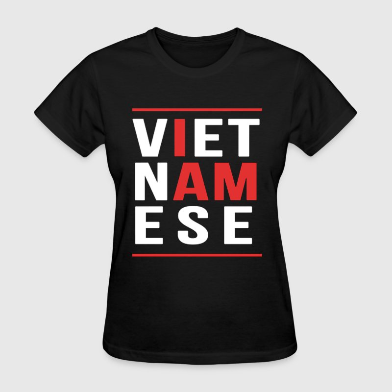 I AM VIETNAMESE (red with bands) Women's T-Shirts - Women's T-Shirt