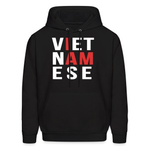 I AM VIETNAMESE (red with no band) - Men's Hoodie