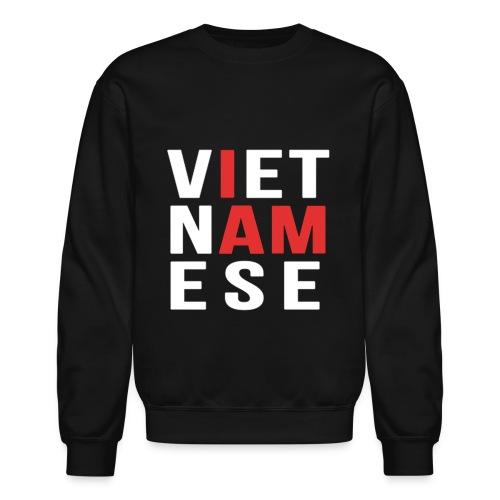 I AM VIETNAMESE (red with no band) - Crewneck Sweatshirt