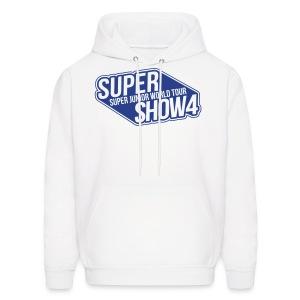 [SJ] Super Show 4 (Front Only   Blue Glitter) - Men's Hoodie