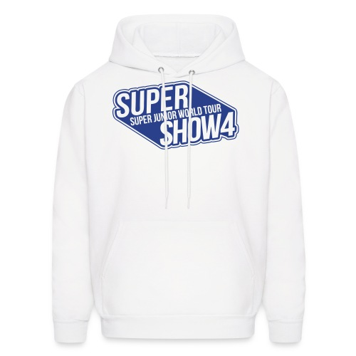 [SJ] Super Show 4 (Front Only | Blue Glitter) - Men's Hoodie