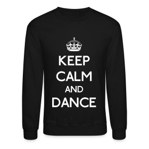 Keep Calm and Dance (White) - Crewneck Sweatshirt