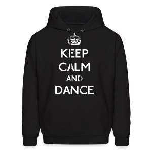 Keep Calm and Dance (White) - Men's Hoodie