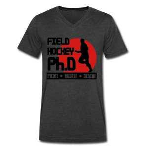 Field Hockey PH.D Men's V-Neck T-Shirt - Men's V-Neck T-Shirt by Canvas