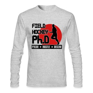 Field Hockey PH.D Men's Long Sleeve T-Shirt - Men's Long Sleeve T-Shirt by Next Level