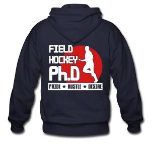 Field Hockey PH.D Men's Zipper Hoodie - Men's Zip Hoodie