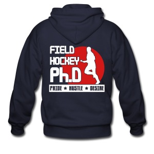 Field Hockey PH.D Men's Zipper Hoodie - Men's Zip Hoodie