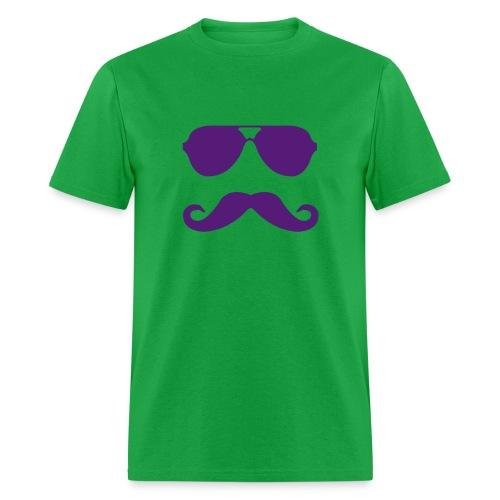 Aviators & Mustache Tee - Men's T-Shirt