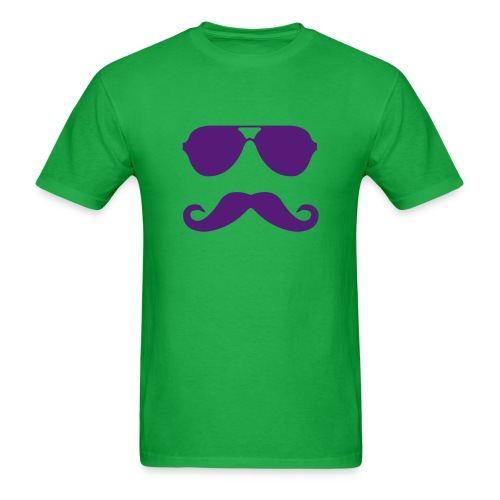 Aviators & Mustache Tee - Men's T-Shirt