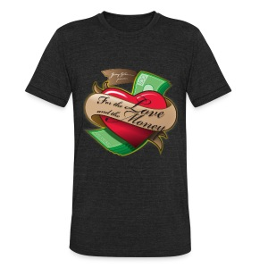 Love & Money - Vintage Mens - Unisex Tri-Blend T-Shirt by American Apparel