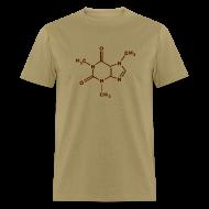 T-Shirts ~ Men's T-Shirt ~ Caffeine Molecule