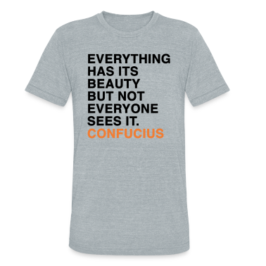 EVERYTHING HAS ITS BEAUTY BUT NOT EVERYONE SEES IT CONFUCIUS quote T-Shirts