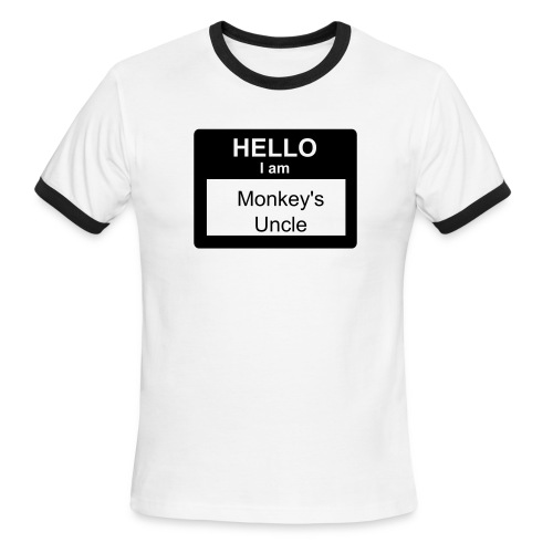 Men's Ringer T-Shirt - Monkey's Uncle shirt.
